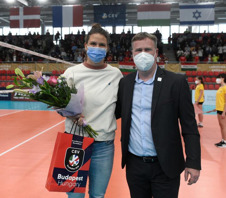 Nagy Eszter és Ludvig Zsolt, az MRSZ főtitkára