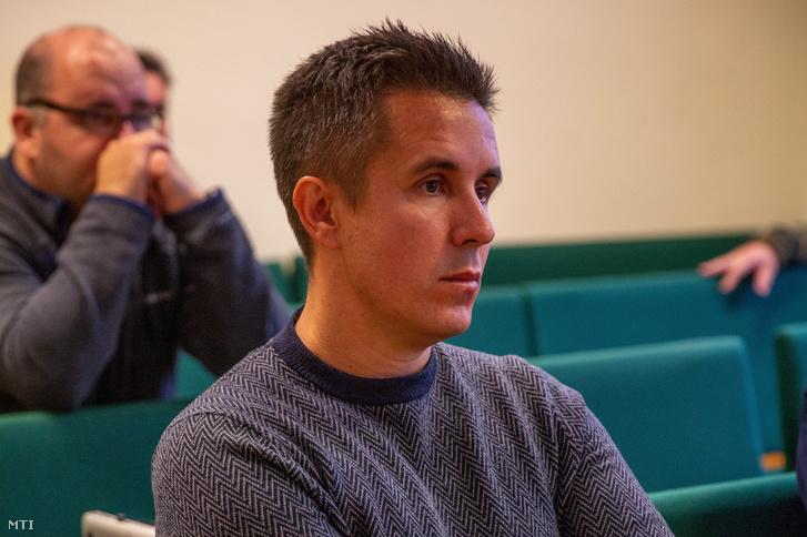 Czeglédy Csaba a Szegedi Törvényszéken 2019. október 21-én.