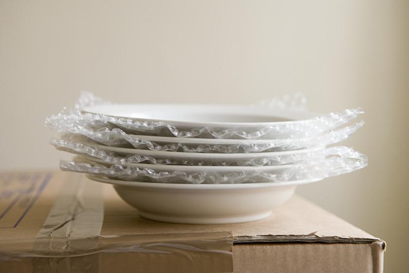 új tányérok belső