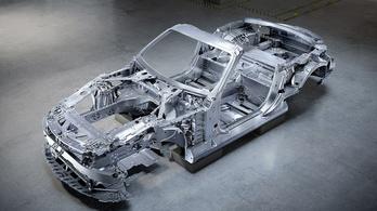 A Mercedes először a nyers vázat mutatta meg az új SL-ből
