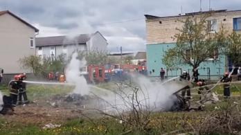 Lezuhant egy katonai repülőgép Fehéroroszországban