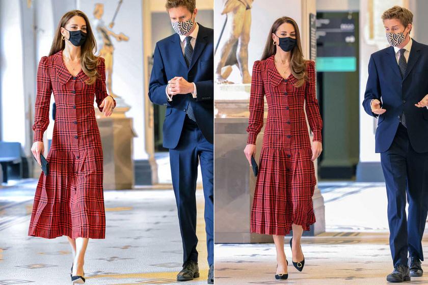 Minden szem Katalinra szegeződött, ahogy ebben a ruhában végigsétált a Victoria and Albert Múzeum folyosóin.
