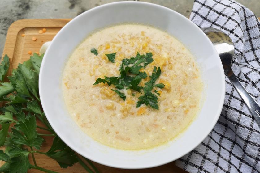 vöröslencse leves recept