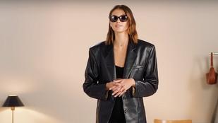 Kaia Gerber magyar tervező dzsekijét veszi fel, ha anyja stílusában akar öltözködni