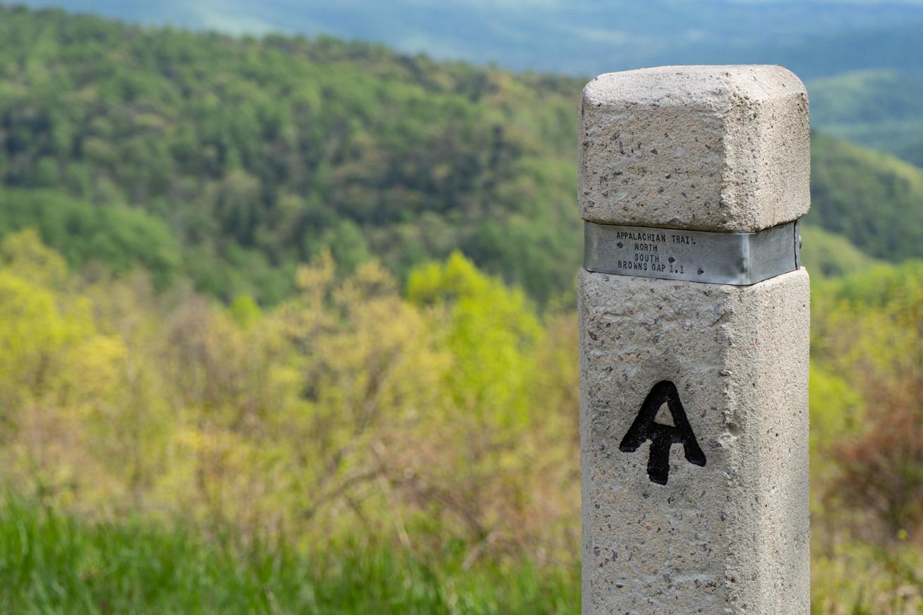 appalachean trail sign