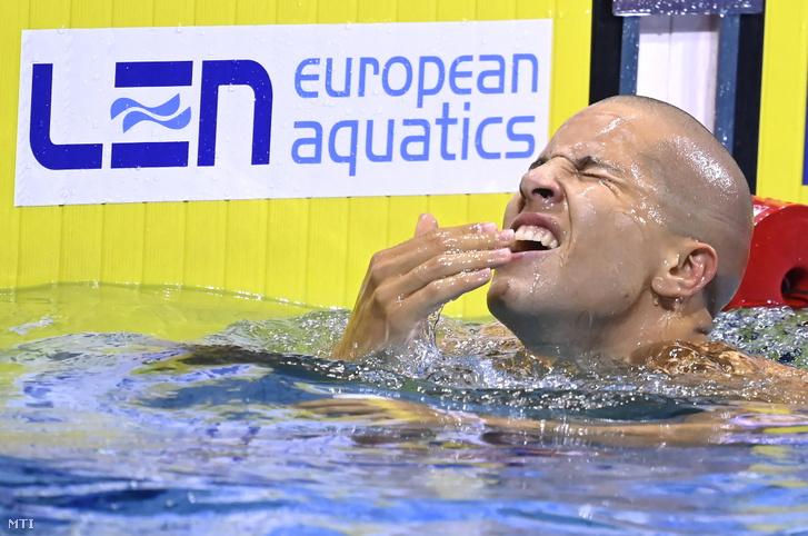 Az 50 méteres pillangóúszás Európa-bajnoka, Szabó Szebasztián