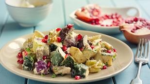 Padlizsán-gránátalma saláta – egy adag csicseriborsóval teheted még izgalmasabbá
