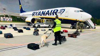 Belorusz vadászgépek kényszerítettek földre egy Ryanairt