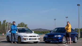 Titánok harca: Mitsubishi Evo, vagy Subaru Impreza?