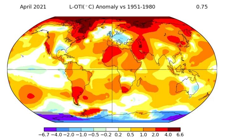 A felmelegedés jól látható az egész világon, Európában azonban egy hidegebb zóna alakult ki