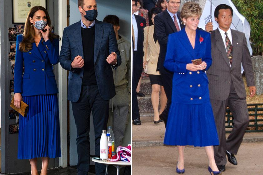 Katalin hercegné szinte teljesen lemásolta Diana hercegnő 1992-es szettjét.