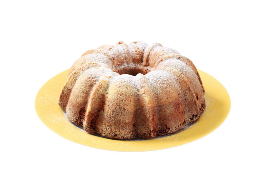 Kávés, vaníliás márványos kuglóf: joghurtos kevert tésztából készül