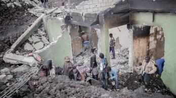 Vulkán után földrengés pusztított Kongóban