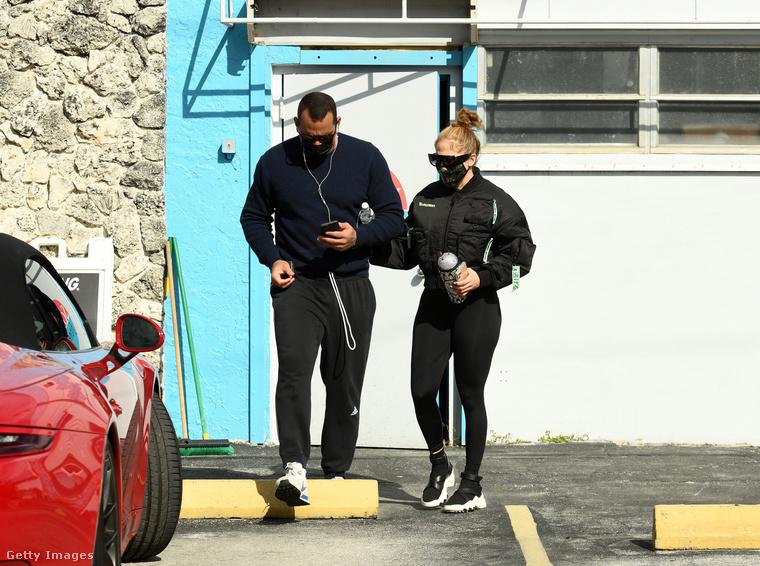 Alex Rodriguez és Jennifer Lopez tavaly december 26-án, Miamiban, edzésről jövet