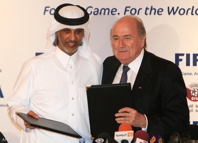 Blatter és a katari futballszövetség elnöke