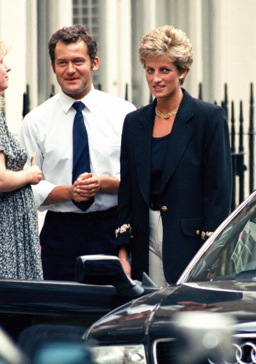 Paul Burrell Diana hercegnő társaságában.