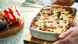 Gyors gombás-spenótos lasagne – kétféle sajttal egy kevés kevés baconnel lesz még finomabb