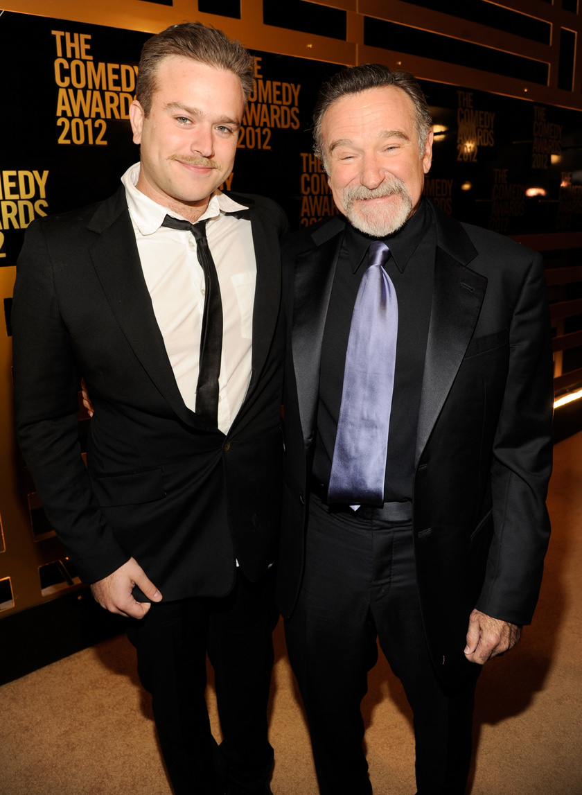 Zak és Robin Williams 2012-ben.