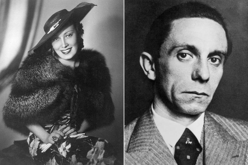 Lída Baarová és Joseph Goebbels.