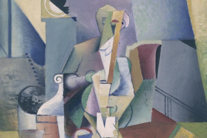 Szobotka Imre: Zenész, kb. 1914., olaj, vászon, elveszett