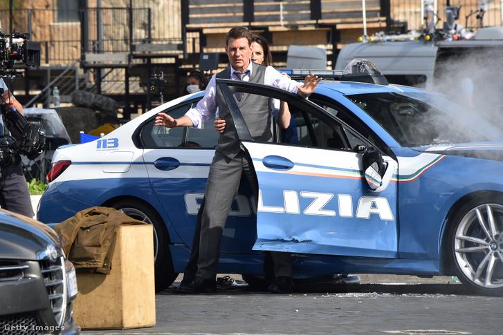 Tom Cruise a legújabb Mission: Impossible-rész olaszországi forgatásán