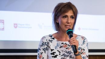 Barabás Éva a konkurens csatorna műsorát népszerűsítette a Fókuszban