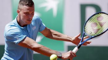 Fucsovics hazai teniszezőt ejtett ki a Roland Garroson