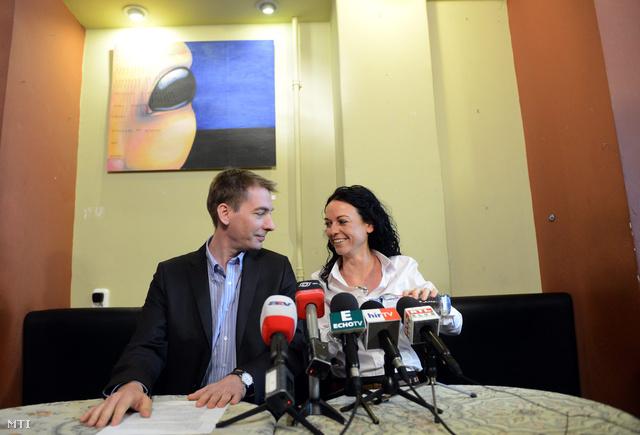 Jávor Benedek és Szabó Tímea, az LMP-ből kivált Párbeszéd Magyarországért Platform alapítói