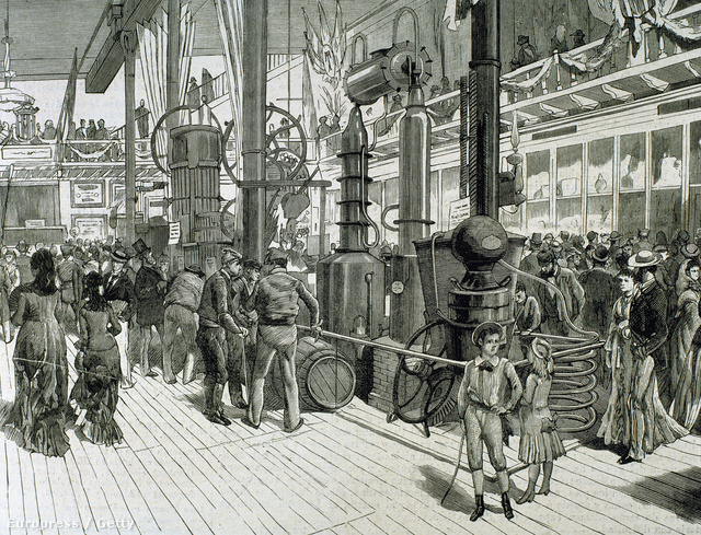 Gyárlátogatás a barcelonai Tranquil-Taller üzemében egy 1879-es metszeten
