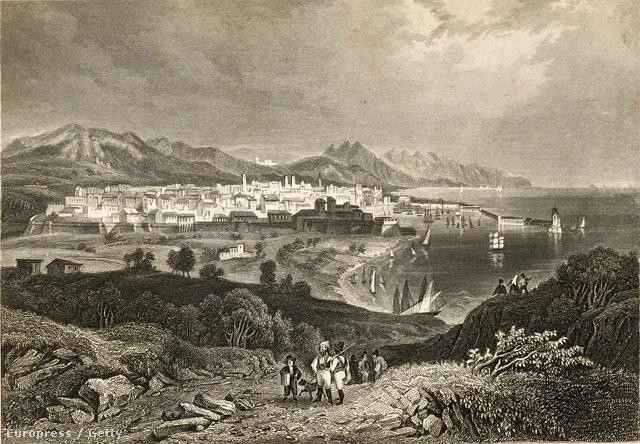 Barcelonai látkép a XIX. század elejéről