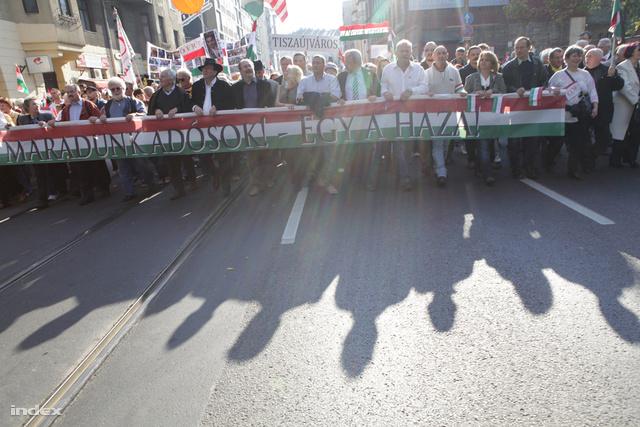Békemenet Budapesten 2012. október 23-án