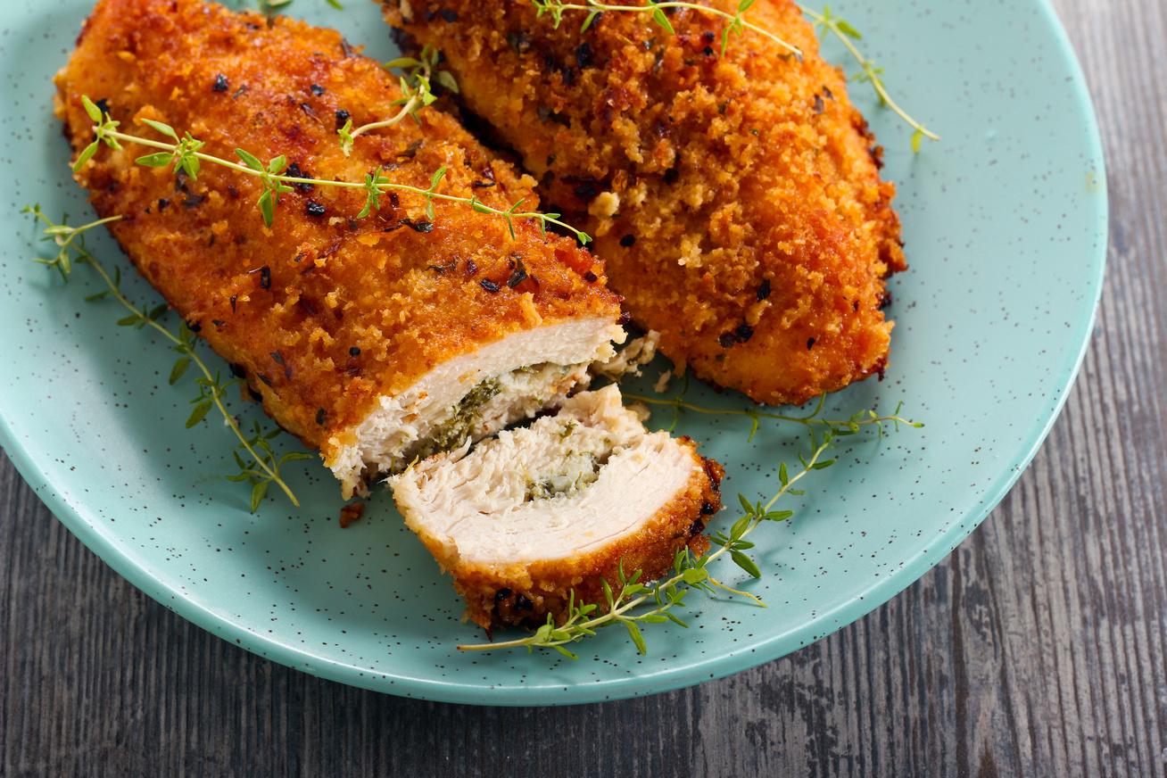 sajtos zoldfuszeres csirke