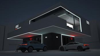 Így nézne ki egy villanyautó-töltő az Audi szerint