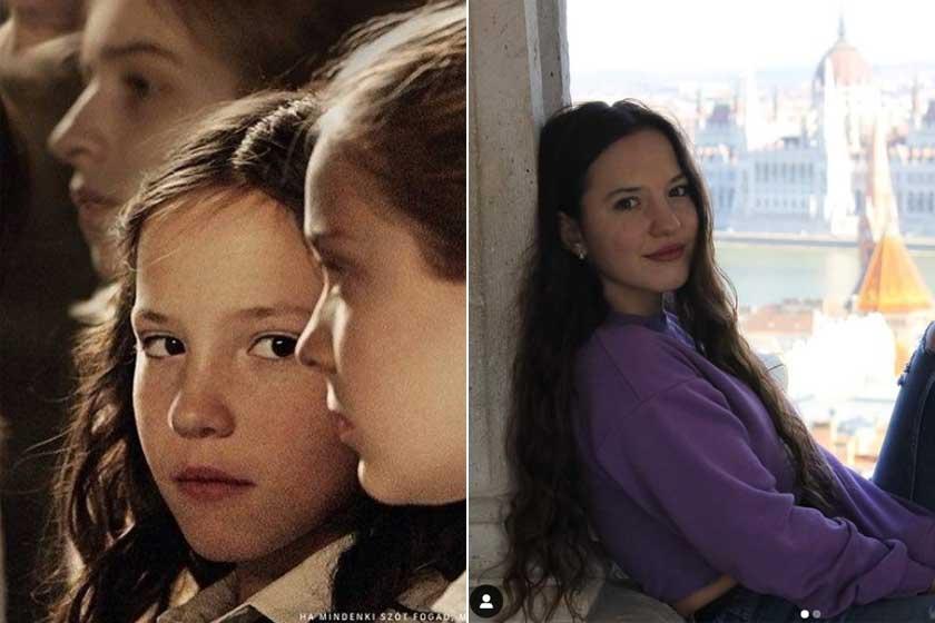 Hais Dorottya a Mindenki című filmben, és 17 esztendősen 2021 februárjában.