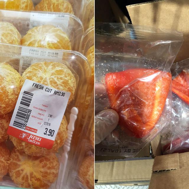 Hámozott mandarin nejlonban? Képeken 7 durva példa a felesleges élelmiszer-csomagolásokra