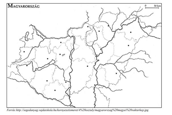 Az alábbi térkép segítségével válaszoljon a kérdésre: Melyik megye területén lép az ország területére a Hernád folyó?