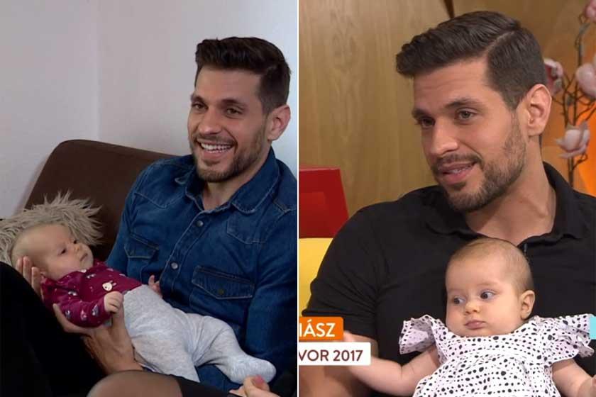 Iliász kislányával, Neszrinnel a Fókuszban és a Reggeliben 2021 májusában és júniusában.