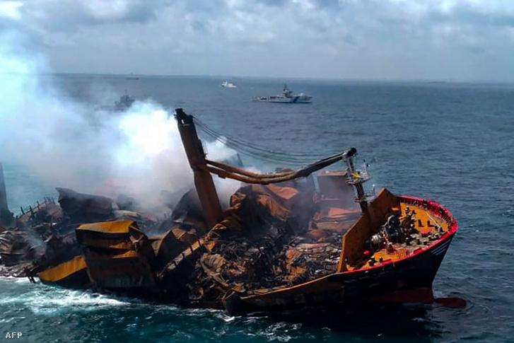 Az X-Press Pearl Srí Lanka partjainál 2021. június 2-án