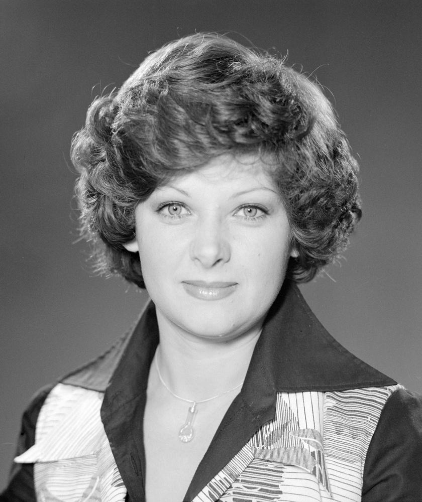 Kertész Zsuzsa a Magyar Televízió bemondónőjeként 1978 szeptemberében.