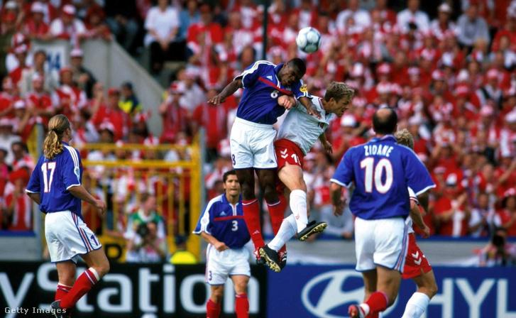Franciaország–Dánia mérkőzés az Európa-bajnokságon 2000-ben