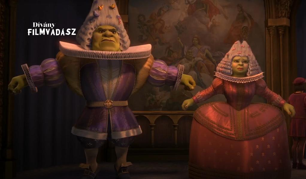 Melyik filmben vágja a pofákat Fiona és Shrek?