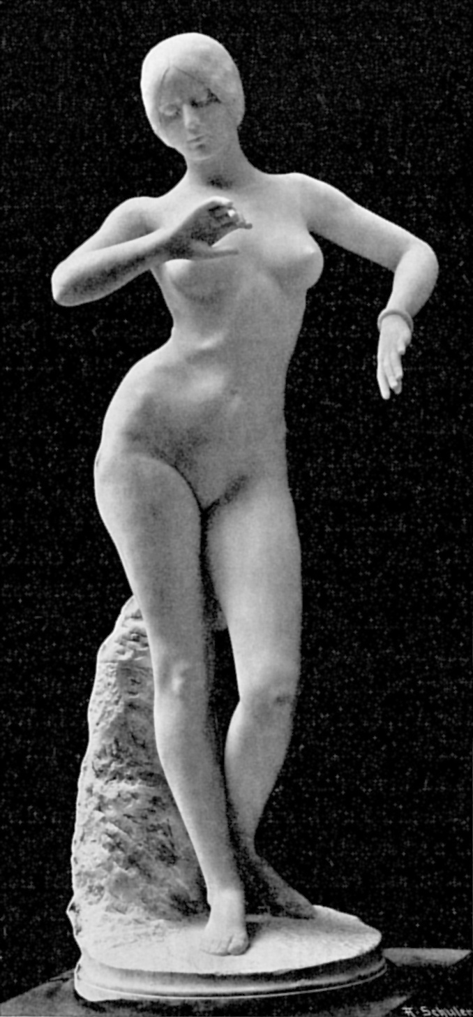 A nagy port kavart szobor, amihez állítólag a táncosnő nem állt modellt.