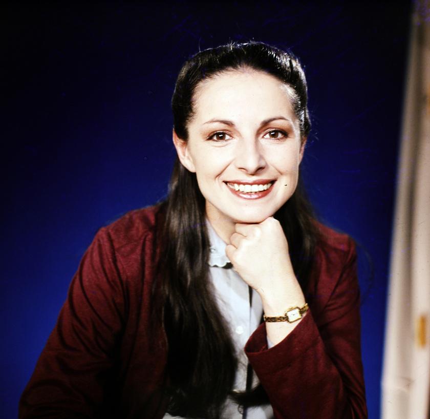 Endrei Judit tévébemondó 1983-ban.