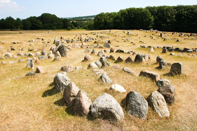 Viking szellemhajók Dániában.
