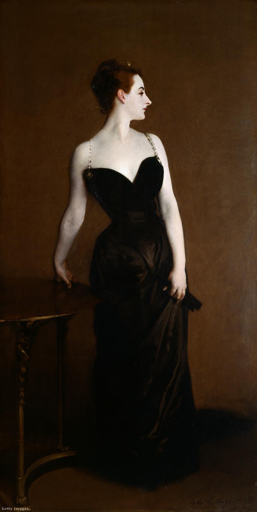 Madame X John Singer Sargent festményén.