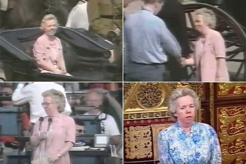 Íme Ella Slack, amint több esemény főpróbáján helyettesíti a királynőt.