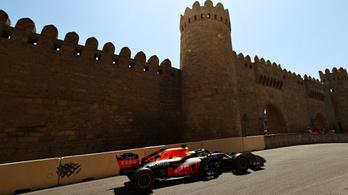 A Red Bull uralta a pénteki napot Bakuban