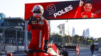 Leclerc-győzelem a kaotikus azeri időmérőn