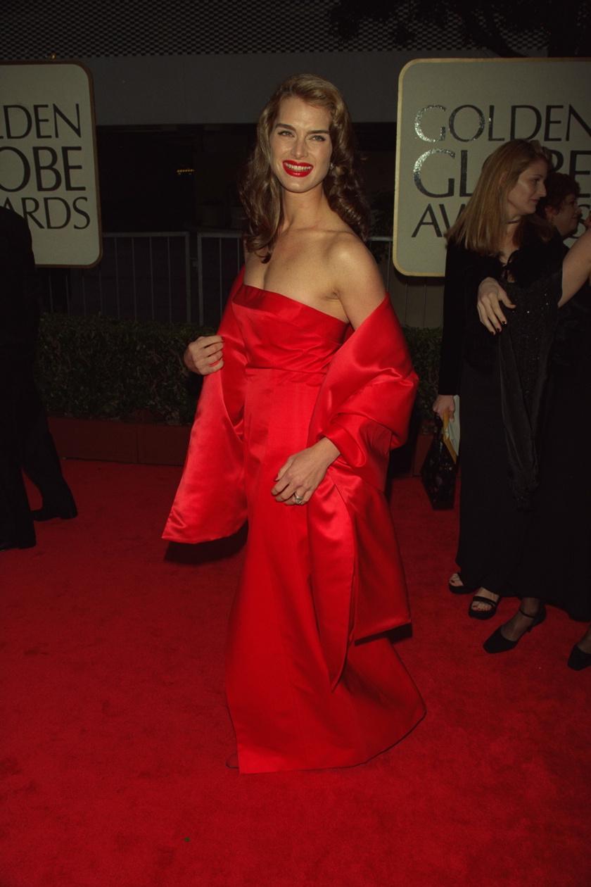 Brooke Shields az 1998-as Golden Globe-gálán.