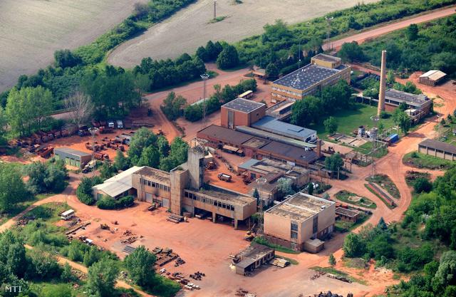 A Mal Zrt. bauxitbánya üzeme a Veszprém megyei Halimba határában.